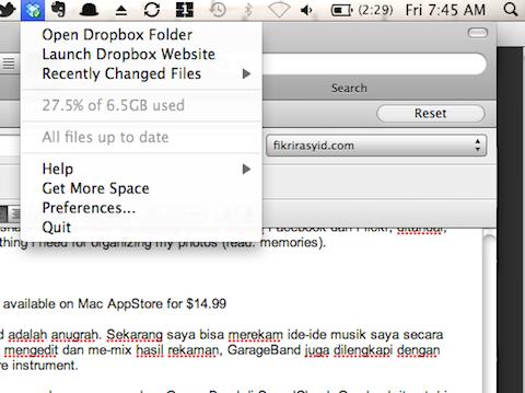 Backup File Tugas Menggunakan Dropbox