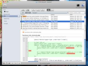 GitX, GUI app for git