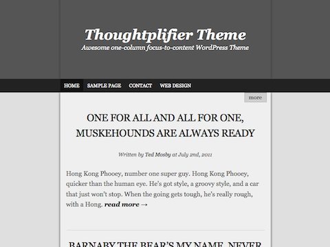 Free Theme: Thoughtplifier