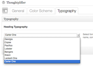 Thoughtplifier Select Font
