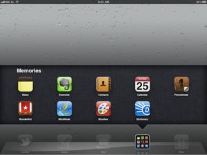 iPad memories app