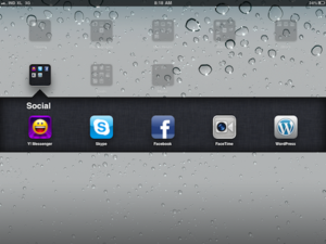 iPad Social networking app