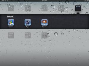 iPad iWork app