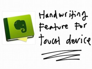 Handwriting Feature for Touch Device FTW