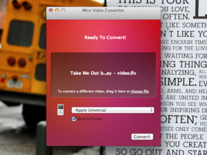 Miro Video Converter Interface