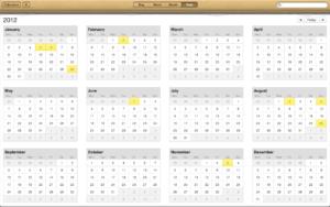 iCal 2012 Calendar