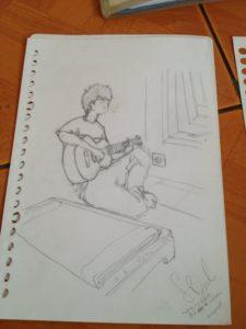 Dari dulu, saya selalu ingin punya gitar :')