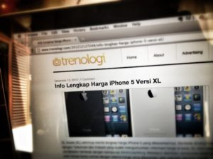 Daftar Harga iPhone 5 versi XL di trenologi