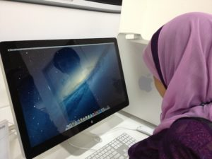 Mom with Mac