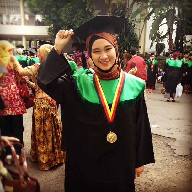 The graduate girl. so proud of…