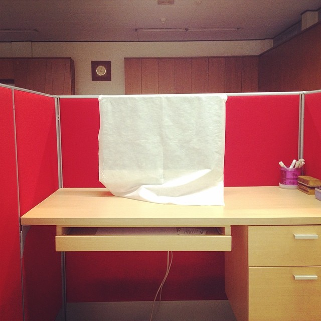 Cubicle at its last week.