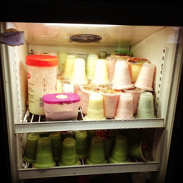 Le sister's home made yoghurt.