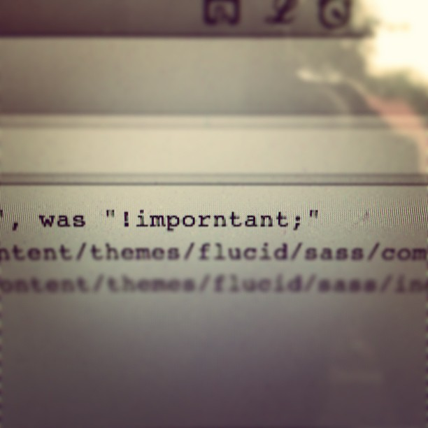 Sass' syntax error of the day …