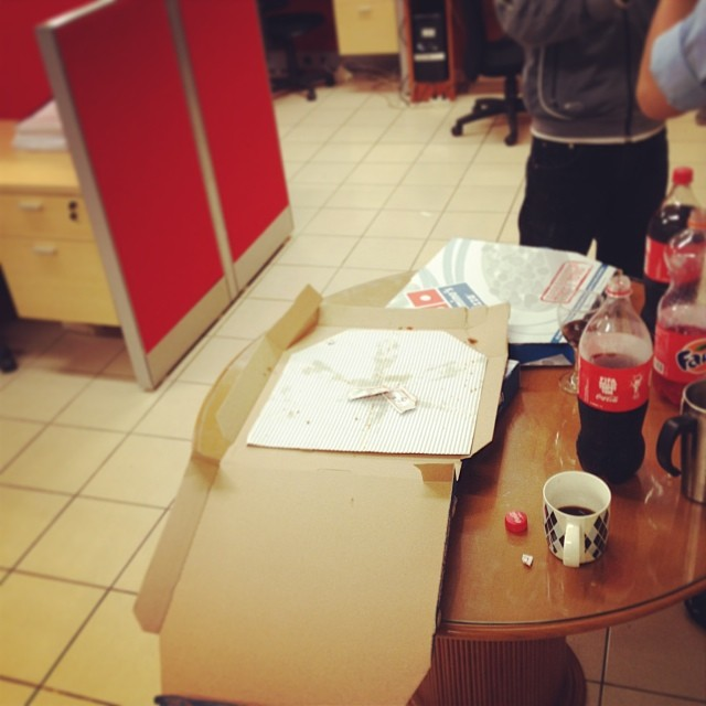 2013's last  pizza #Obligatory…