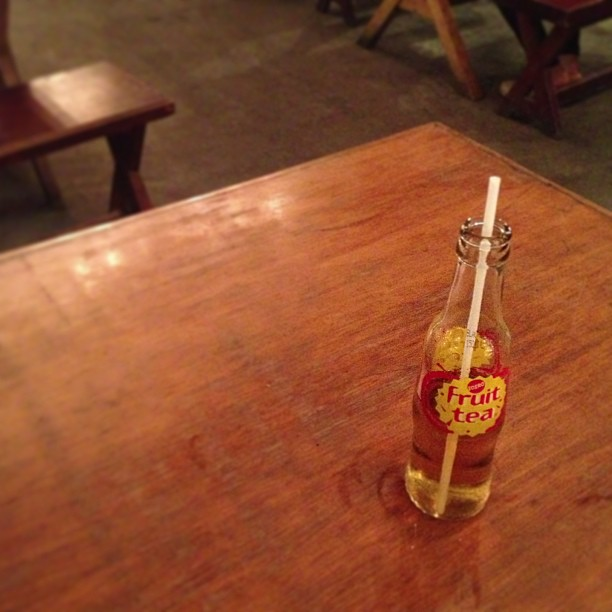 A lonely bottle.