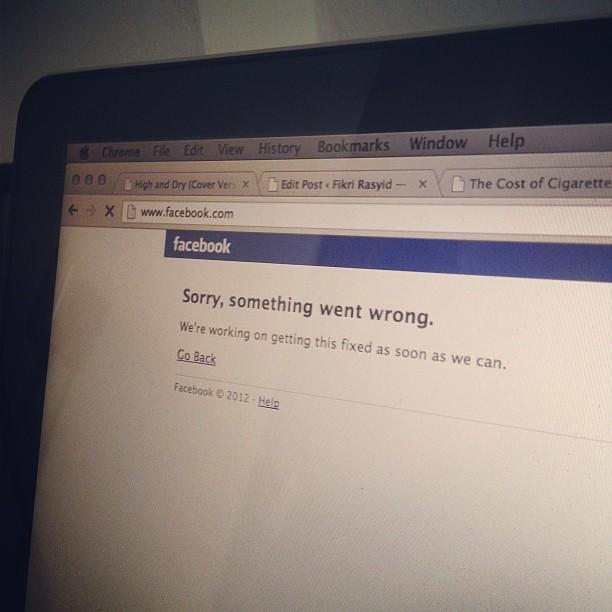 Wah tumben facebook down :O