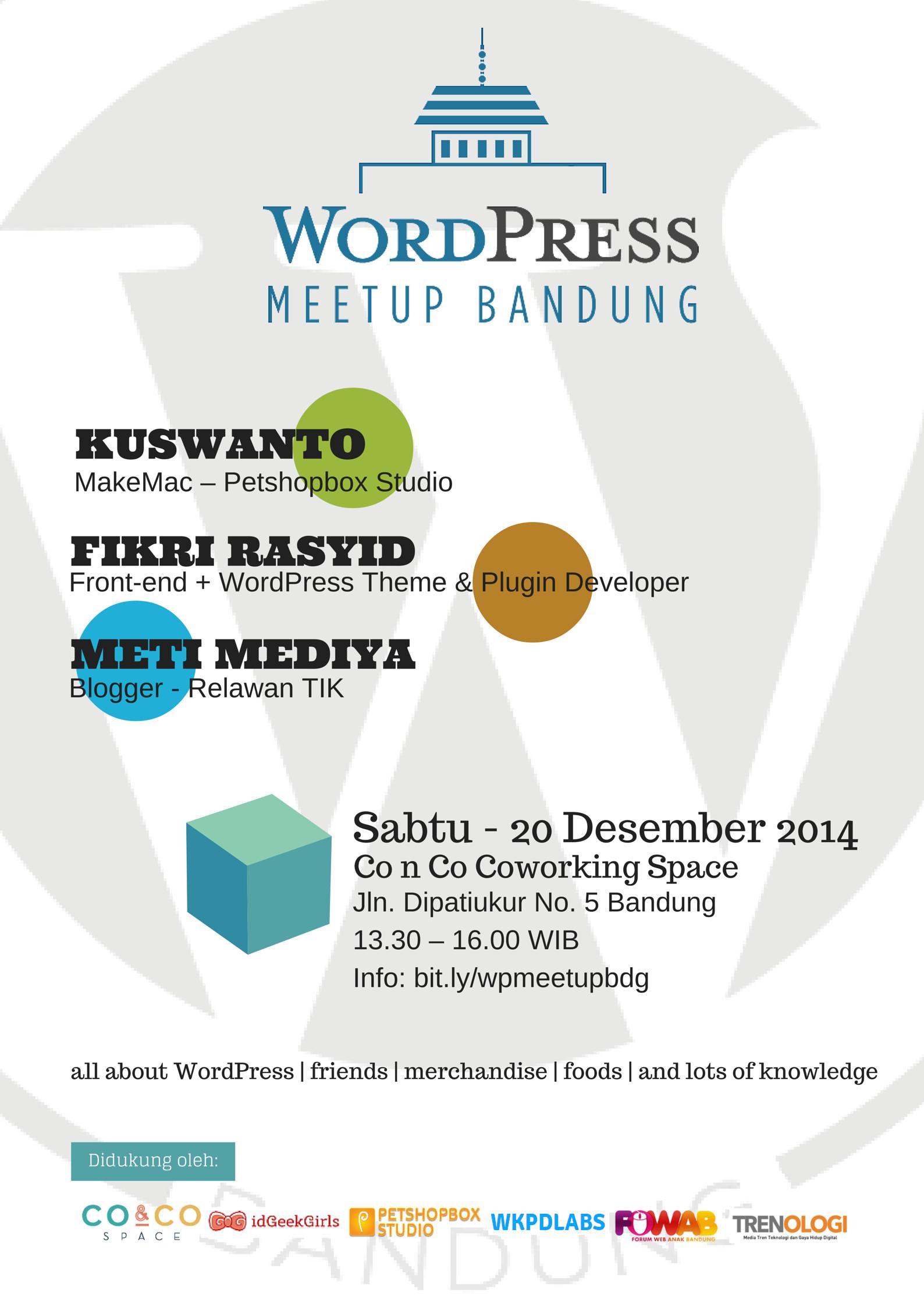 WordPress Meetup Bandung – Desember 2014