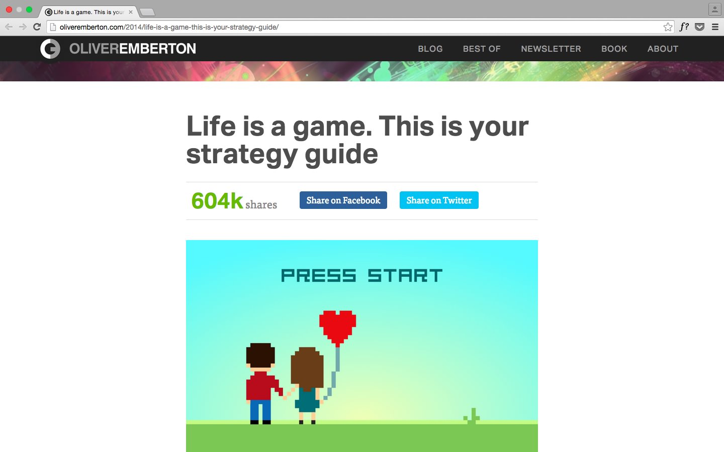 Life is a game… by Oliver Emberton