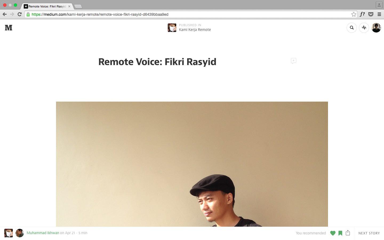 Wawancara oleh Kami Kerja Remote