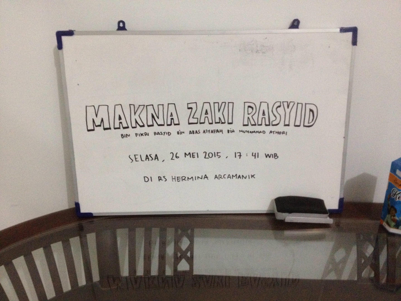 Makna Zaki Rasyid