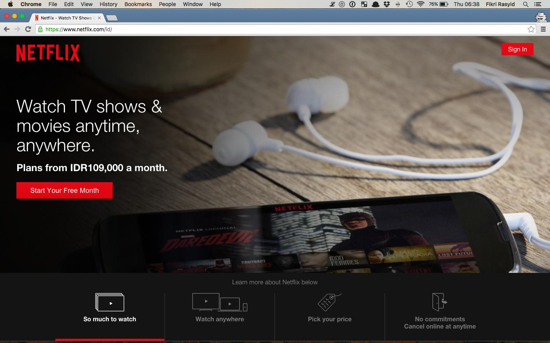 Netflix Sudah Tersedia di Indonesia