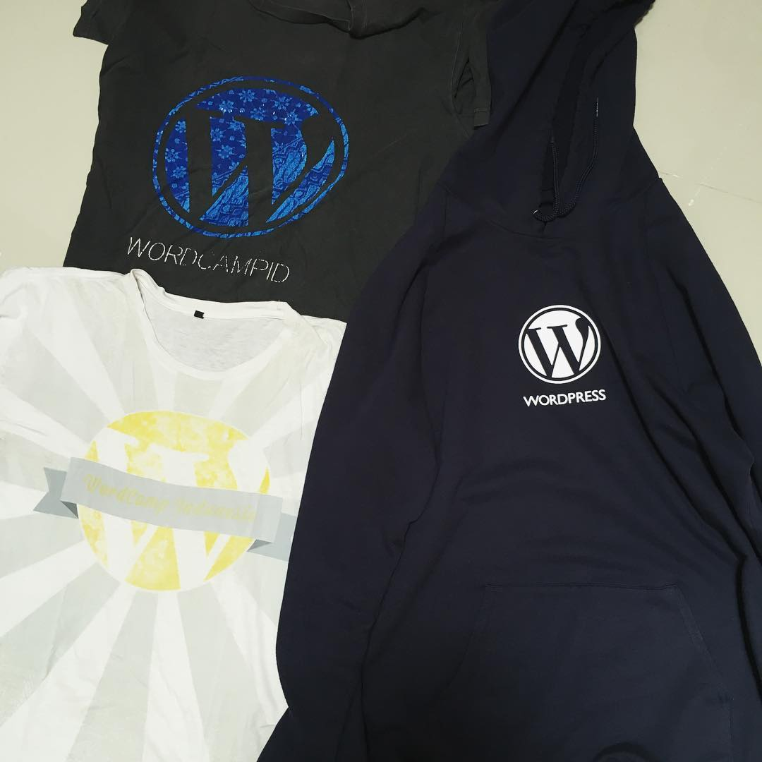 WordPress and WordCamp apparel…
