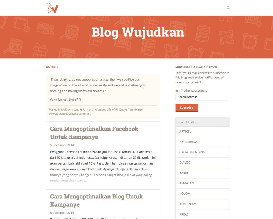 Wujudkan Blog