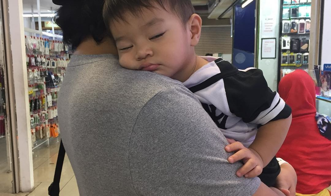 In my arms. #duniaPenuhMakna