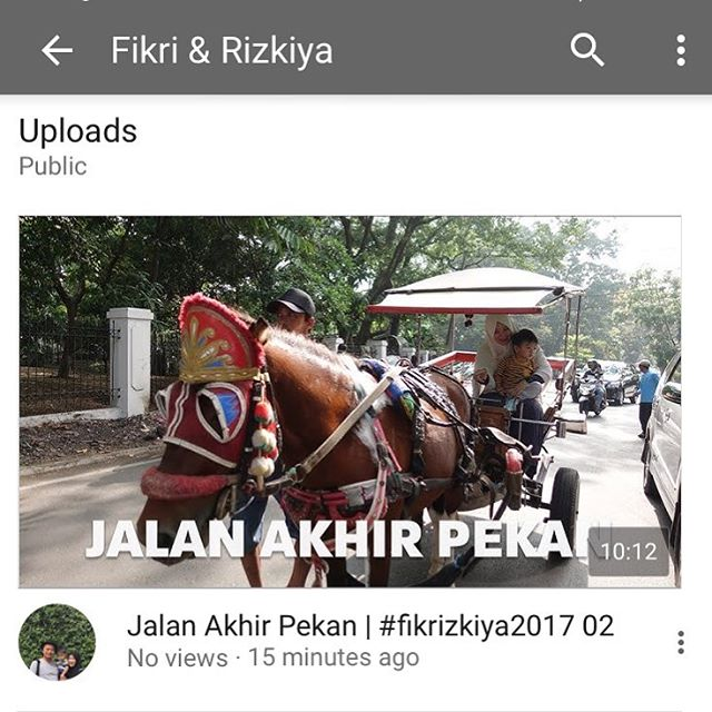 New #fikrizkiya2017 vlog is up…