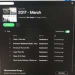 Starting March's playlist with…