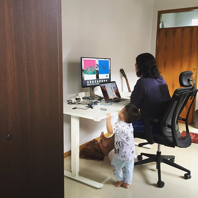 Nengok papa kerja di kantor (b…