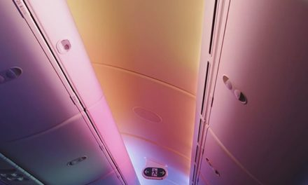 United's colorful cabin lamp #…