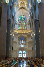 Fantastic interior of Sagrada Familia