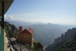 The view from the cable station on top of Montserrat