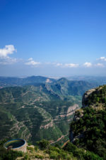The glorious view from the top of montserrat peak