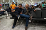 Ayub and Sofyan waiting for our next flight at Instanbul