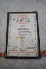 Authentic mexican restaurant menu