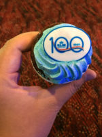 Apparently KLM was celebrating its 100th anniversary so there was free cupcakes on the boarding gates